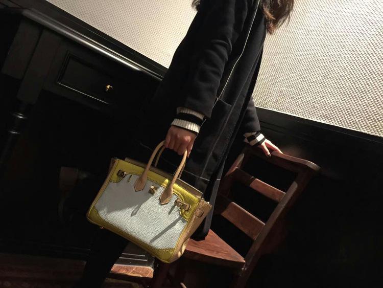 Handbag Genuine Leather Women\`s Litchi Cowhide Messenger Bag Famous Designer Shoulder Crossbody Tote 2016 Luxury Ladies Bolsa 55