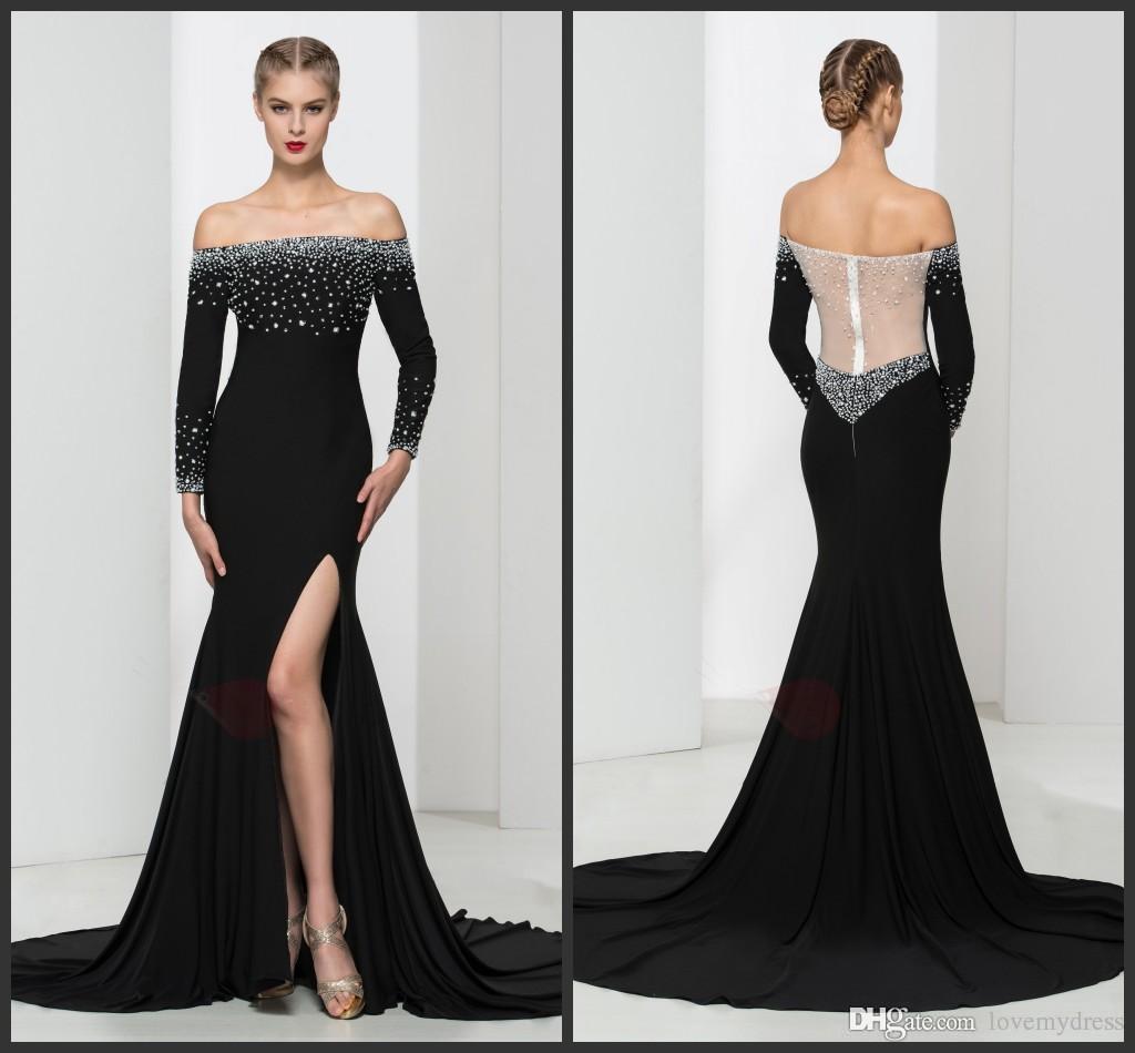 Long sleeve off the shoulder dress pattern