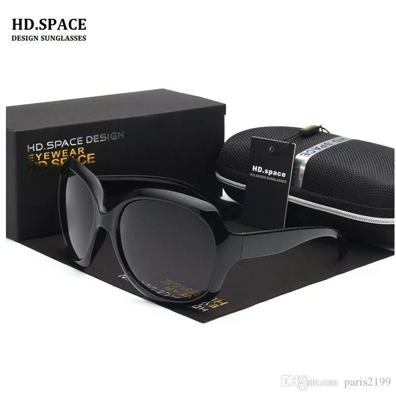 Vendite calde 5 colori Donne Ladies Fashion Occhiali da sole Summer High Quality Black Occhiali da sole UV PC di grandi dimensioni