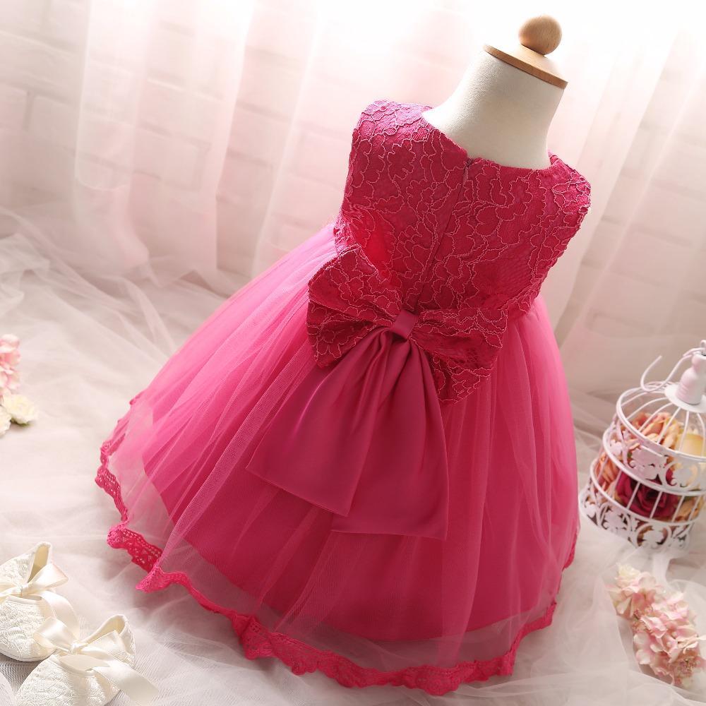 All'ingrosso 2017 bambini del vestito di nuovo stile Summer baby girl sundress senza maniche di pizzo rosa fiori ragazze vestito per i bambini abiti da festa di nozze
