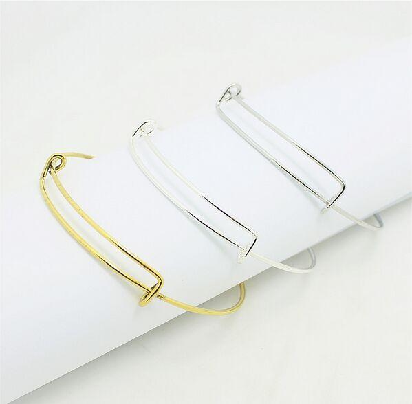 60pcs / lot Top Qualité En Acier Inoxydable or argent Bracelet Femmes Bijoux Charme Peut ajusté Bracelets Bracelet Bijoux Faire