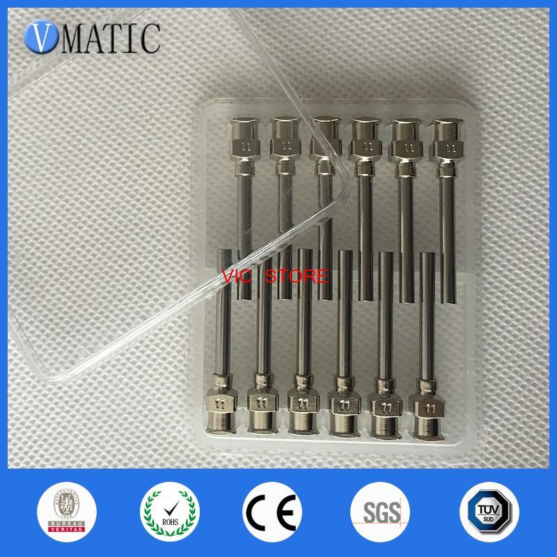 12PCS for 1inch Tip Length 11G Blunt Stainless Steel Glue Dispensing Needles Syringe Needle Glue Dispensing Tips