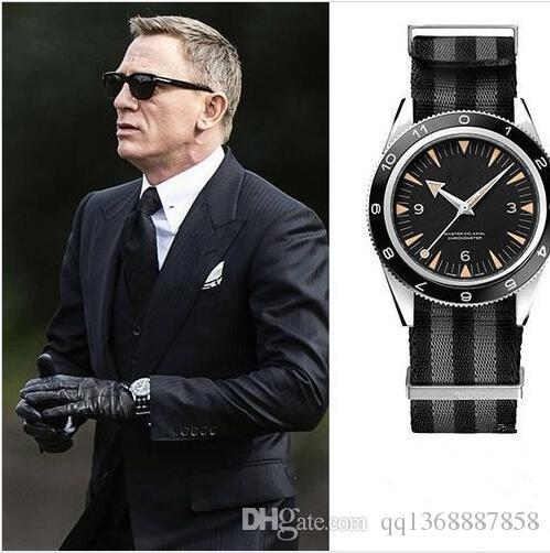 Новые роскошные механические мужские 300 Master Co-Axial 43 мм автоматические мужские часы Джеймс Бонд 007 Spectre Мужские спортивные хронометры наручные часы