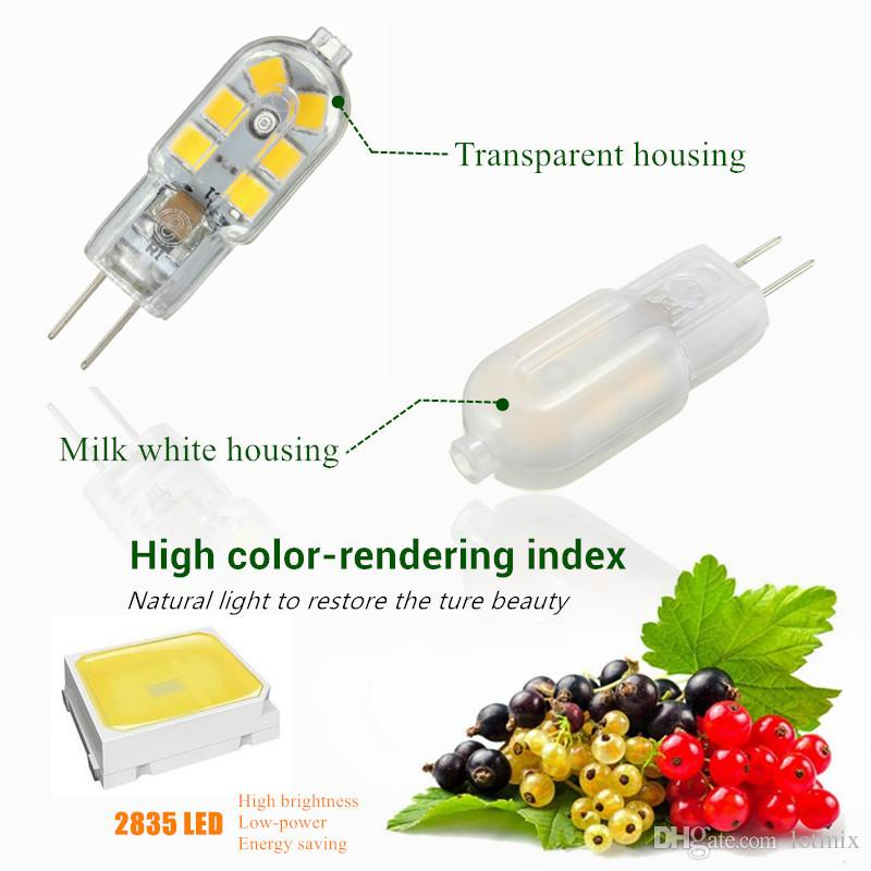 12 LED Light Bulb G4 2W 2835 SMD Chandelier Spotlight Replace Bulb Energy Saving No Dimmable Pure/Warm/Natural White AC/DC12V