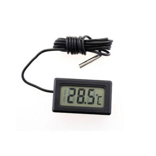LCD Dijital Buzdolabı Dondurucu Termometre Araba Sıcaklık Ölçer Mini Boyutu