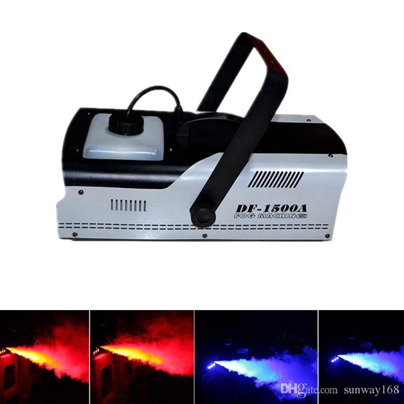 Multifunções 1500 W Nevoeiro Máquina de Fumaça com Controle de Fio ou Controle Remoto DMX512 Luzes LED Stage dhl frete grátis