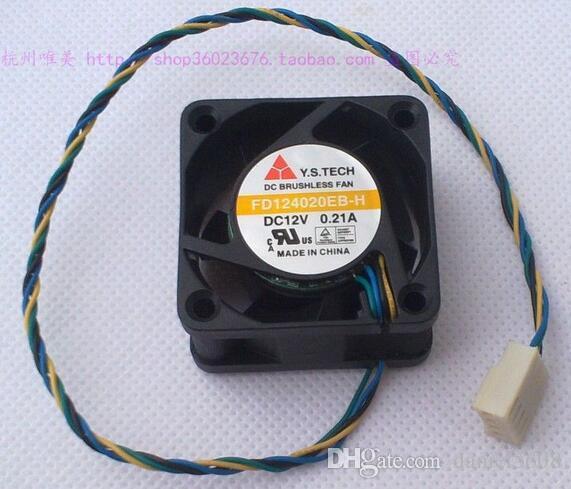 Y.S.TECH 4020 4CM FD124020EB-H 0.21A 40 * 40 * 20mm 4 ligne ventilateur double boule
