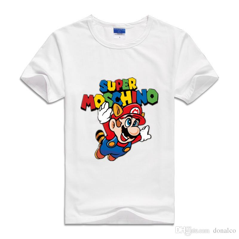 2017 Summer T Shirts Cute Cartoon Super Mario Printed Fashion clothes children Brother Game Boys&Girls Tops&Tees Outwear Fashion T-shirts