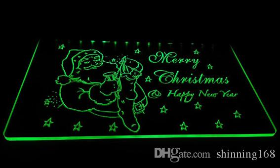 LD009--gMerry-Christmas-Neon-Light-Sign Decor Free Shipping Dropshipping Wholesale 6 colors to choose