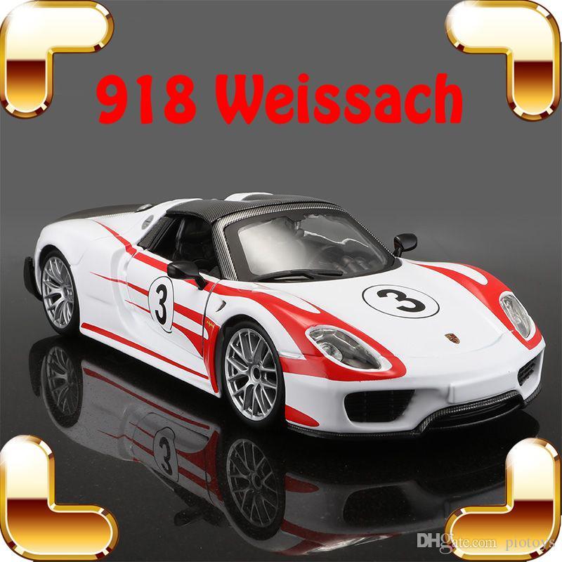 Regalo di natale P918 Weissach 1/24 modello in metallo sport racer lega di veicoli da collezione giocattoli diecast hot wheels simulazione scala presente