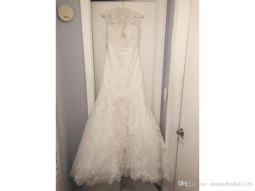 Mermaid Bridal Wedding Dress Gown COR-582 Custom Made Sweetheart Lace Appliques Gorgeous Train With a Tulle Jacket Vestido