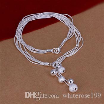 Vente en gros - Détail prix le plus bas prix de Noël, livraison gratuite, nouveau collier de mode en argent 925 yN222