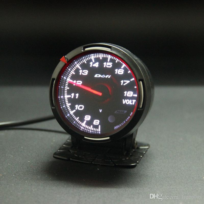 13 Colore retroilluminazione In 1 60mm Racing Misuratore di tensione DEFI BF Link Indicatori di voltaggio Indicatore del sensore di tensione