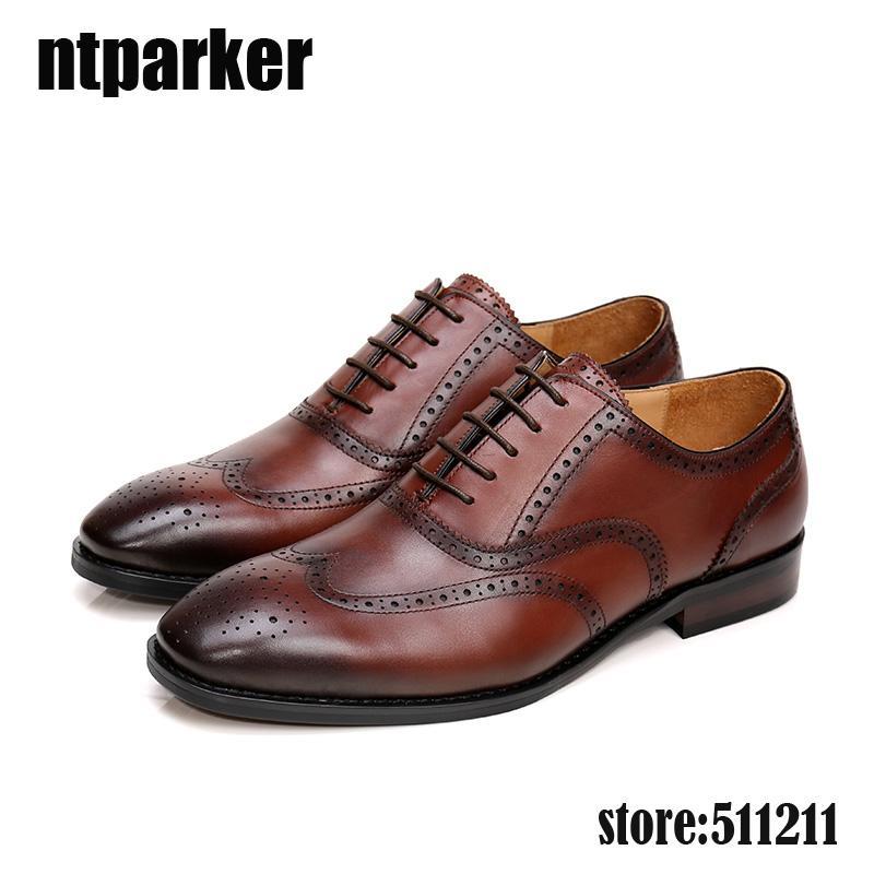 Oxfords classico uomo moda scarpe business in vera pelle per adulti scarpe da uomo vestito affari uomini zapatos de hombre zapatos hombre