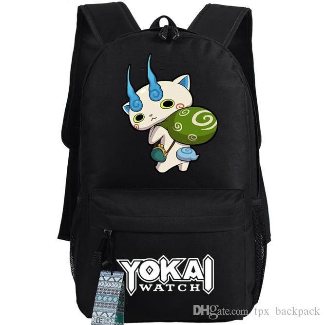 Koma inu zaino Yokai elegante orologio giorno pacchetto Komajiro sacchetto di scuola del fumetto Anime packsack qualità zaino Sport zainetto zaino Outdoor