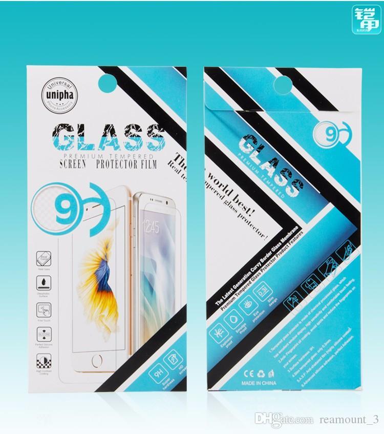 100pcs paquet de boîte d'emballage en papier pour le protecteur d'écran en verre trempé pour Apple Samsung Xiaomi