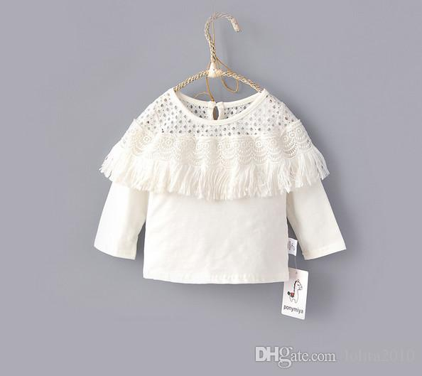 Baby Girl Long Sleeve Cute Ruffle Design T-Shirts Print Top Tee Blouse Autumn