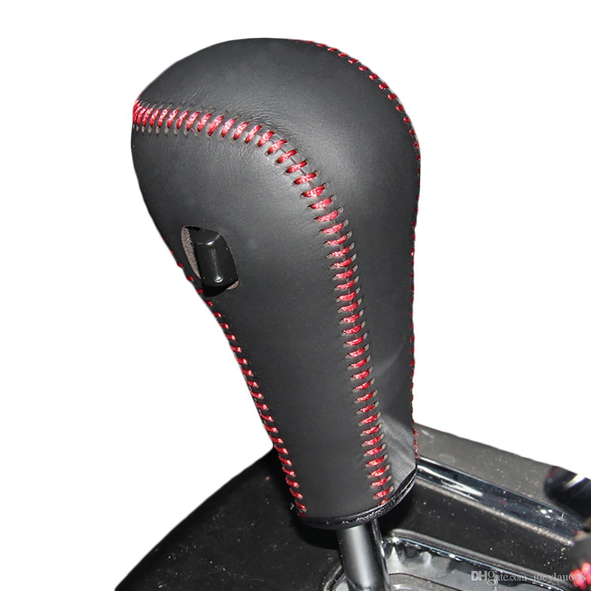 Gear Covers Case для Ssang Yong Korando Actyon 2014 автоматический сдвиг воротники из натуральной кожи ручной работы DIY стайлинга автомобилей