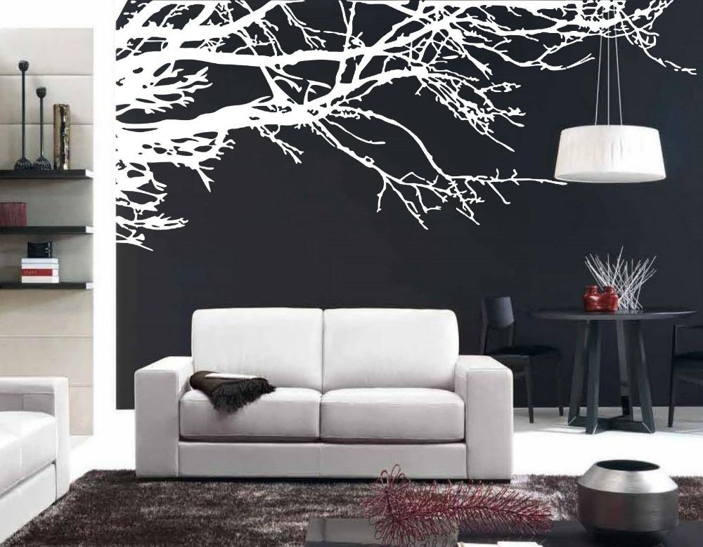 Mega Stunning Tree Branch Removable Wall Art Stickers Vinyl Sticker Home Decor Large Tree Decals For TV Background Sticker
