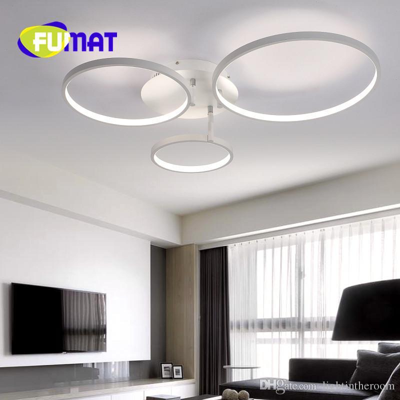 ... Fumat Neue Ankunft Kreis Ringe Designer Moderne LED Deckenleuchten Lampe  Für Wohnzimmer Schlafzimmer Fernbedienung Deckenleuchte Armaturen ...