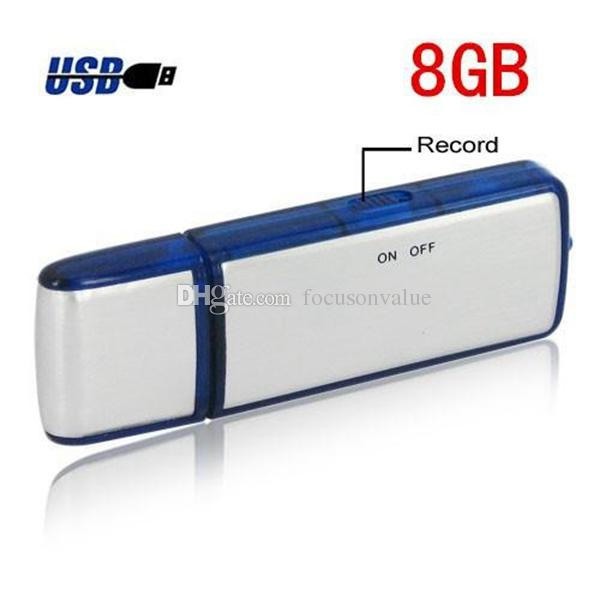 2 in 1 4GB 8GB USB Disk digital Voice Recorder Dictaphone Pen USB Flash Drive audio recorder in retail package dropshipping 50pcs/lot