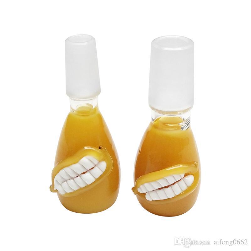tazón de ventas al por menor masculina tazón de vidrio de 18 mm para la plataforma petrolífera vidrio pipa de agua para fumar pipa de agua libre del envío