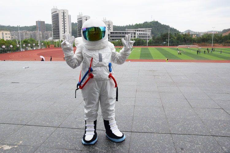 Costume de mascotte de costume d'espace de haute qualité Costume de mascotte d'astronaute avec sac à dos avec gant LOGO, chaussures, livraison gratuite taille adulte