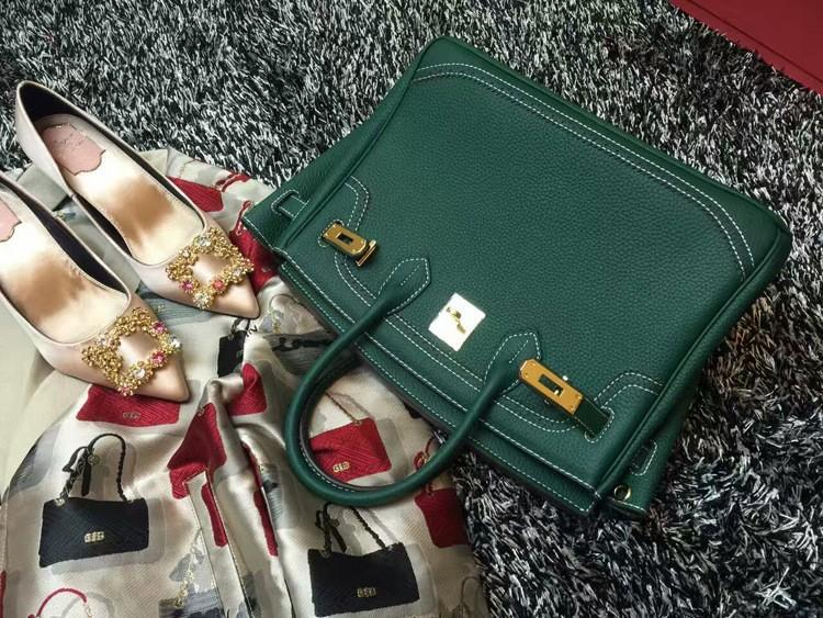 2016 Luxury H Handbag Women\`s Litchi Cowhide Messenger Bag Genuine Leather Famous Designer Shoulder Crossbody Totes Ladies Bolsa (9)