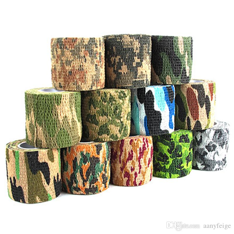 Self-adhesive Non-woven 5cmx4.5m Camouflage Wrap Rifle Hunting Shooting Cycling Tape Camo Stealth Tape For Knife EDC Tools