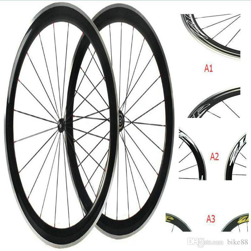 Wholesale alloy carbon wheelset 700c clincher 50mm china carbon wheels zi-p 404 bicycle carbon wheels firecrest road bike wheels in stock