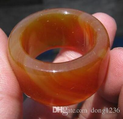 old natural red jade agate hand carved ring sz13.5 classic jewelry