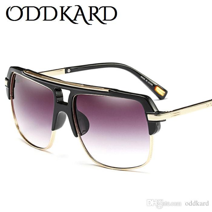 Oddkard DTC سلسلة خمر نظارات شمسية للرجال والنساء الفاخرة مصمم نصف بدون حافة مربع نظارات الشمس Oculos دي سول UV400 OK52179
