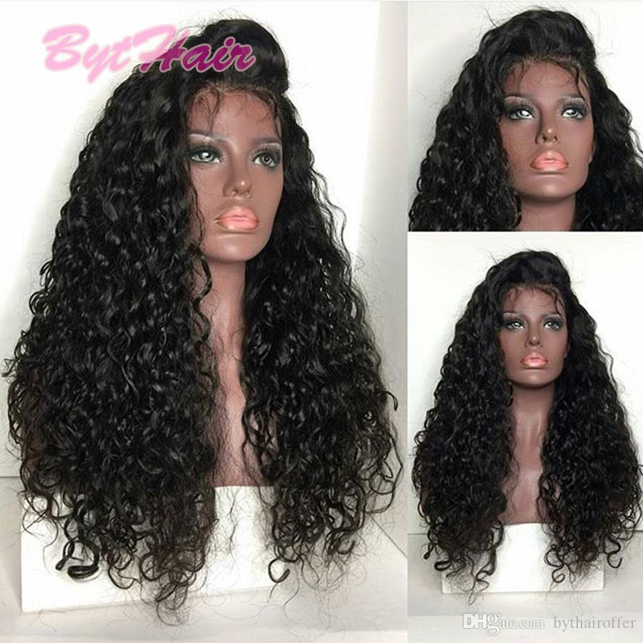 Acconciatura Glueless parrucca piena del merletto Parrucche piene del merletto dei capelli brasiliani dei capelli per le donne nere Parrucca anteriore riccia naturale del merletto con i capelli del bambino