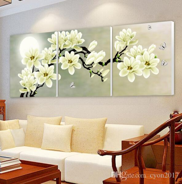 벽에 앉아 방 cuadros에 벽 아트 난초 장식 예술 유화 모듈 사진 (NO 프레임) 3PCS 캔버스 포스터 인쇄