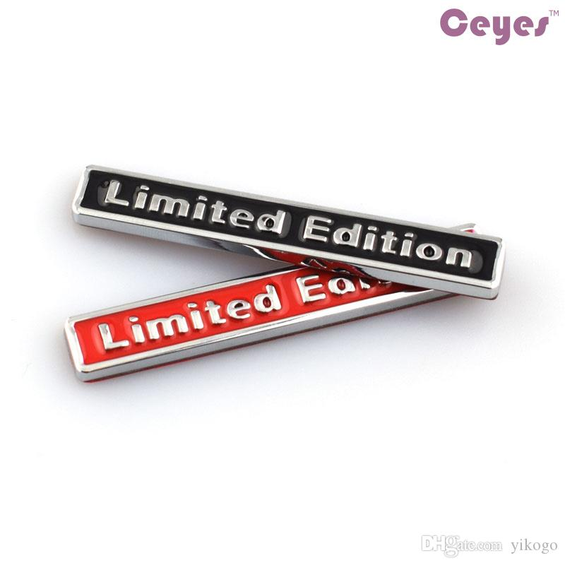Car Styling 3D Metal Logo Stickers Limited Edition Badge para bmw audi opel saab asiento jeep lada nissan toyota Emblemas del coche pegatinas