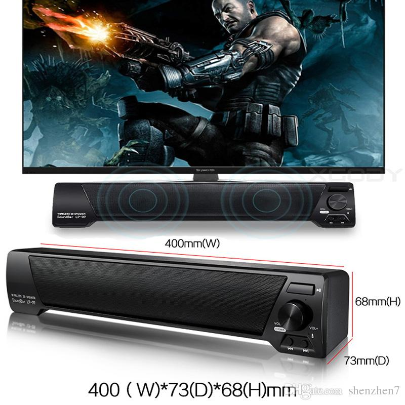 LP-09 Bluetooth Speaker TV Sound Bar 4.0 Channel Bluetooth with Remote Control Speaker USB Stereo Speaker 3.5mm Aux TF Card MIS152