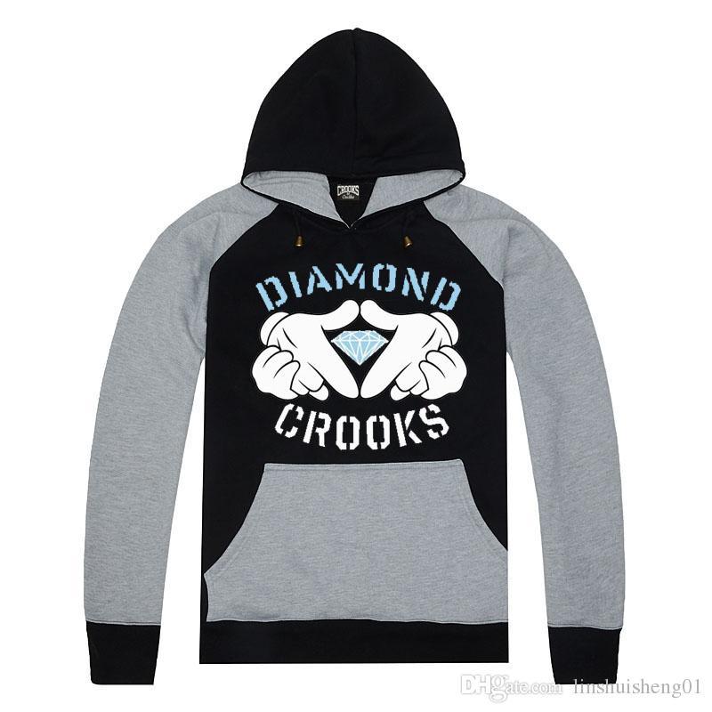 free shipping Hip Hop Hoodie for man's women's Autumn Winter cotton sweatshirts Fashion Crooks and Castles Hoody MEN Hoodie