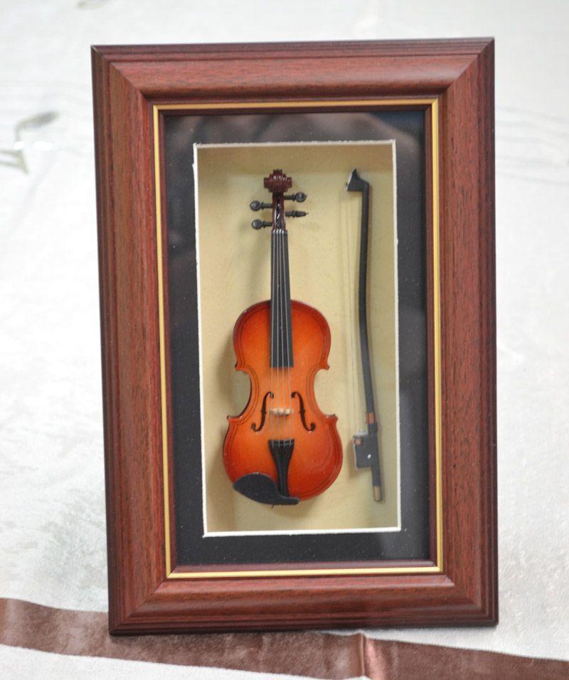 Pure Hand-mad Mini Wood Скрипка Модель Рамка Скрипка Модель Рамка