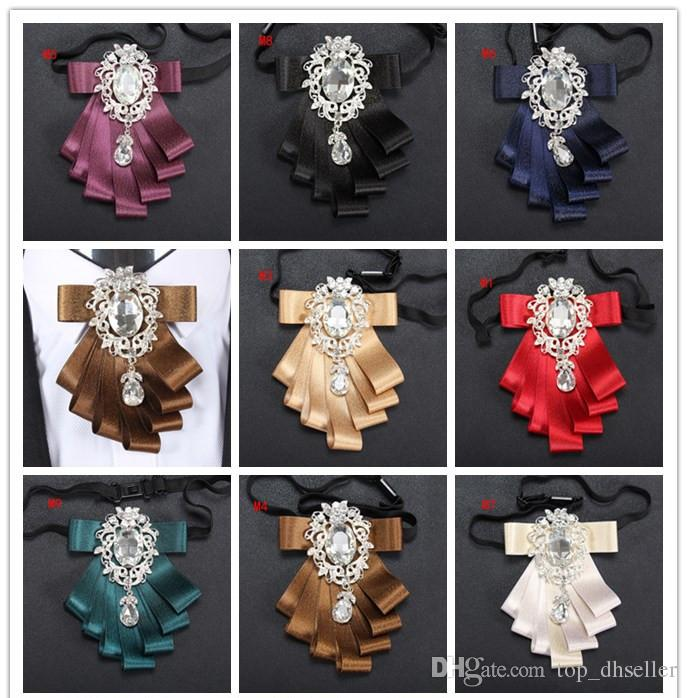Bow ties 2017 for Wedding Party Dress up men bowties Women Neckwear highlights Polyester Yarn double ribbon for bridegroom D091
