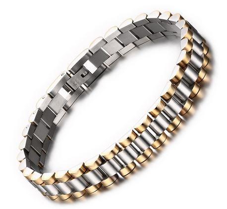 Heißer Verkauf Einfache Gurtform Männer Armband Edelstahl Schmuck R-206