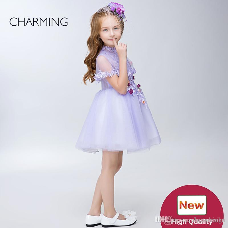Clothes for girls Kids design clothes Purple high quality Pageant dresses for girls Girlsdress China suppliers