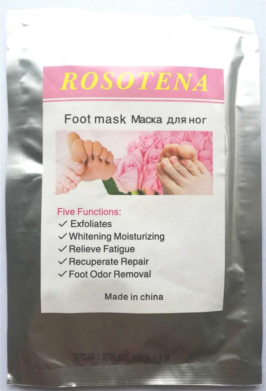 6PCS(3PAIR)/LOT ROSOTENA foot care peeling mask vinegar remove dead skin foot skin smooth exfoliating feet mask hot sale