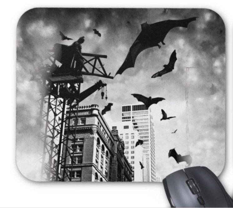 Rectangular non-slip natural rubber mouse mat batman design haunted house computer accessories office supplies mouse pad