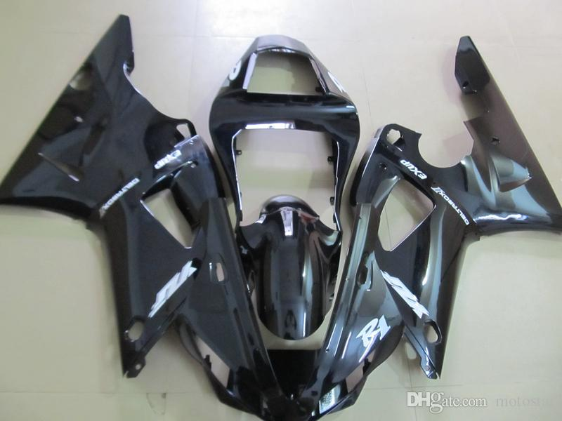 Fairing kit for Yamaha YZF R1 2000 2001 glossy black motorcycle fairings set YZFR1 00 01 OT01