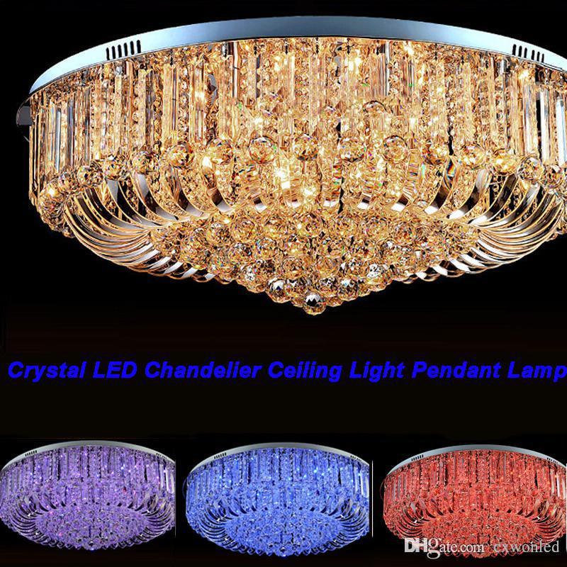 Lámpara de envío libre de alta calidad Nueva moderna K9 de cristal LED de la lámpara de techo colgante de iluminación de luz 50cm 60cm 80cm