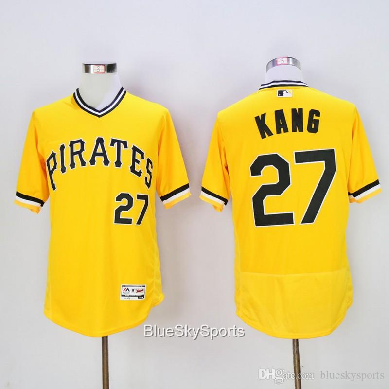 7721de816 Jung Ho Kang Jersey 27 Pittsburgh Pirates Flex Base Baseball Jerseys White  Gray ...