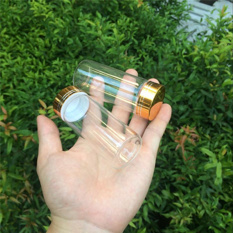 90ml Glass Decoration Bottles with Gold Aluminum Screw Cap Wedding Gift Bottles Jars Christmas Decoration3