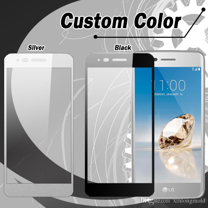 ZTE Overture 3 Için tam kapak Temperli Cam Ekran Koruyucu ZTE fanfare 2 perakende ambalaj ile Huawei Ascend XT2 LG Aristo LV3 HTC U11 ARTı