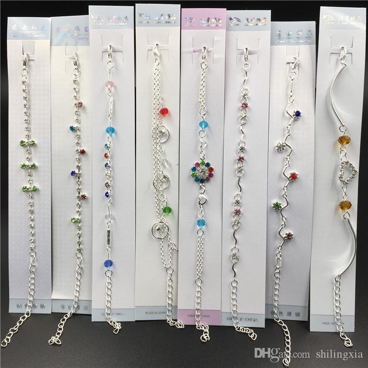 24 pcs/set Hot wholesale High quality Mixed Many styles Metal Button Charm Rhinestone Styles Button Jewelry Charm Bracelets free shipping