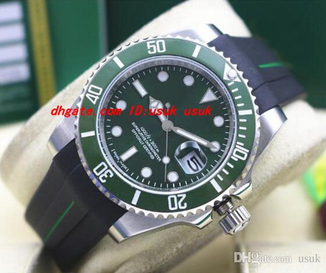 Top qualidade pulseira de borracha de relógio de pulso de luxo 116610 WHITE OURO cerâmica BEZEL / DIAL 40 MM relógios de homens mecânicos automáticos nova chegada